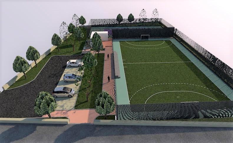 , Γήπεδο τένις και ποδοσφαίρου 5Χ5 στα Αρφαρά